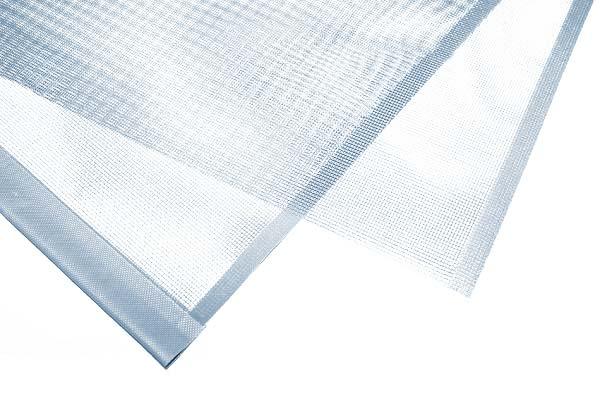 Rete con tasca e bordatura
