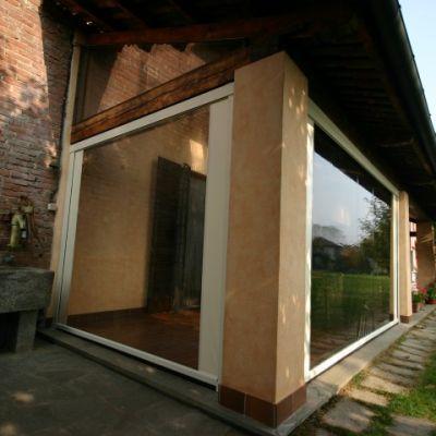 Tenda da sole modello a caduta cristal tenda per chiusra for Garage con veranda