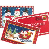 Tappeto Natale Christmas Rettangolare 50x80 Cm PZ.10
