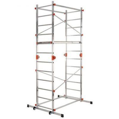 """Trabattello/scala In Alluminio """"paspartu' Fa200"""" Gierre H307cm"""