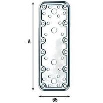Piastra X Giunzioni Travi Diritta Inox misura 180x65mm (772 In)PZ.10