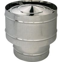 Fumaiolo Antivento X Stufa Pellet Acciaio Inox304 Ø12cm