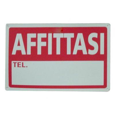 """Segnaletica D'informazione """"affittasi"""" 30x20cm"""