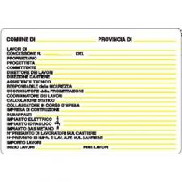 Cartello Concessione Edilizia Cm.48x 68