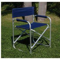 Sedia Regista Alluminio Spiaggia Blu' Papillon C/maniglia