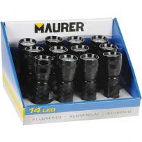 Torce Batteria Alluminio Cf.12 Pz Soft-touch Maurer 14led