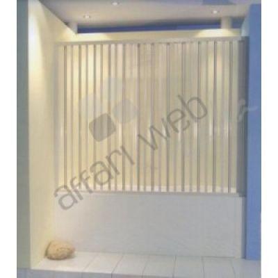 Box vasca in PVC a 1 lato tipo porta a soffietto