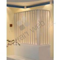 Box vasca in PVC a due lati scorrevole a soffietto