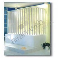 Box vasca in PVC a tre lati tipo porta a soffietto su misura