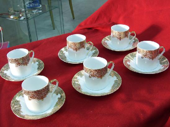 servizio 6 tazzine da caffe 39 in porcellana bianca con