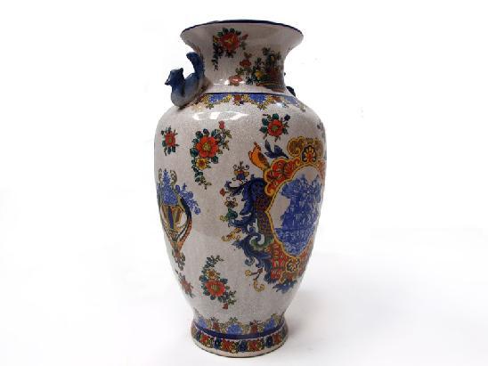 Vaso di ceramica con decorazioni floreali vasi portafiori for Vasi giapponesi
