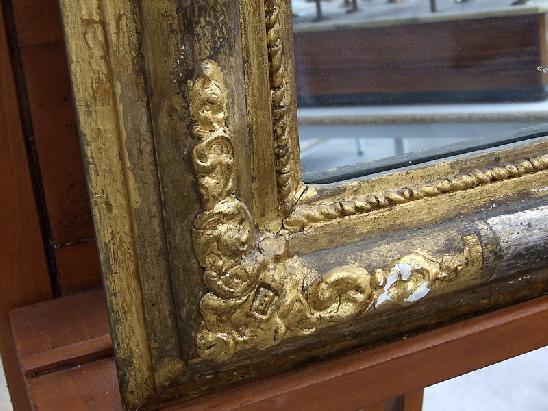 Specchio specchiera con cornice dorata e argentata del - Specchio con cornice dorata ...