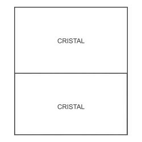 1 profilo di irrigidimento Cristal/Cristal