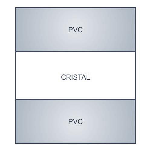 2 profilo di irrigidimento PVC/Cristal/PVC