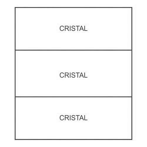2 profilo di irrigidimento Cristal/Cristal/Cristal
