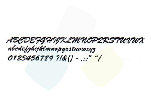 Scritta codice 03