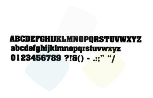 Scritta codice 01