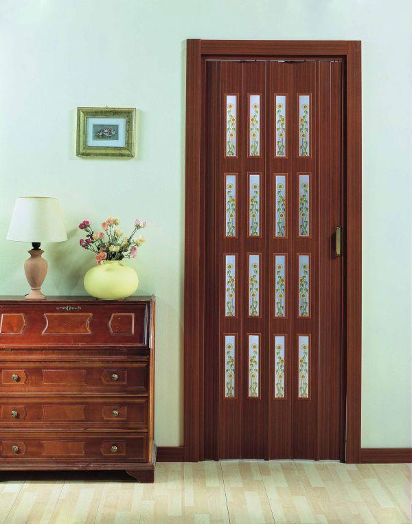 Porte a soffietto con vetri prodotta su misura preventivo - Porta a soffietto in vetro ...