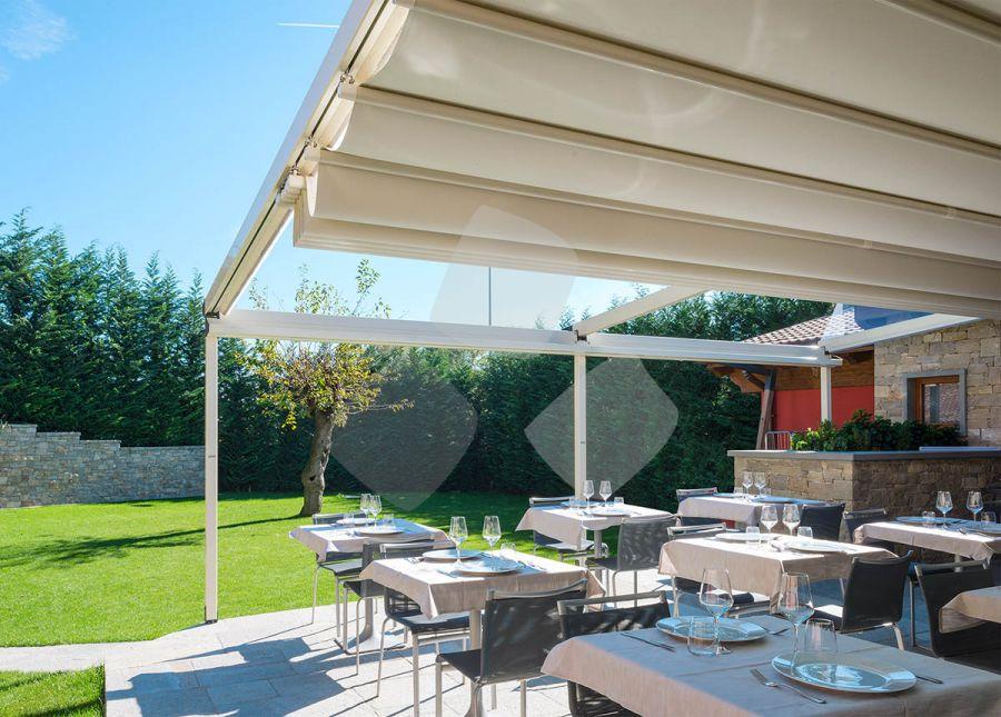 Tenda da sole giardino nuvola parete con guida fissaggio al muro - Guida da parete ...