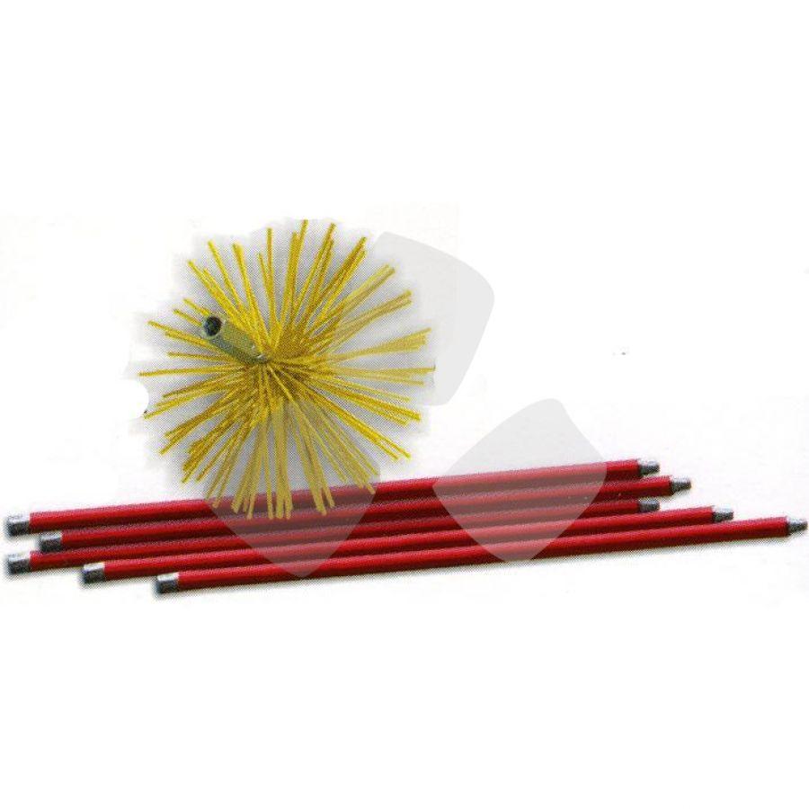 Scovolo Kit X Tubi Inox C/aste 7 Mt scovolo250mm