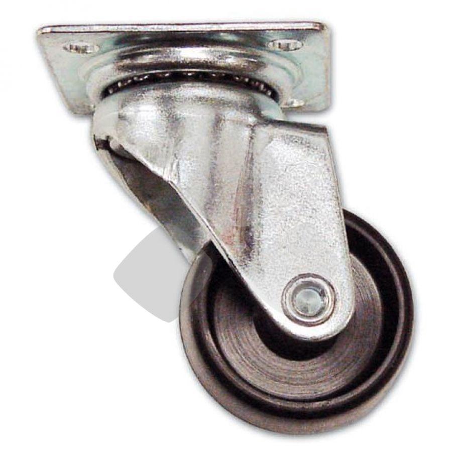 Ruota Con Piastra D1p misure ruote da 30/60mm. In Nylon PZ.40