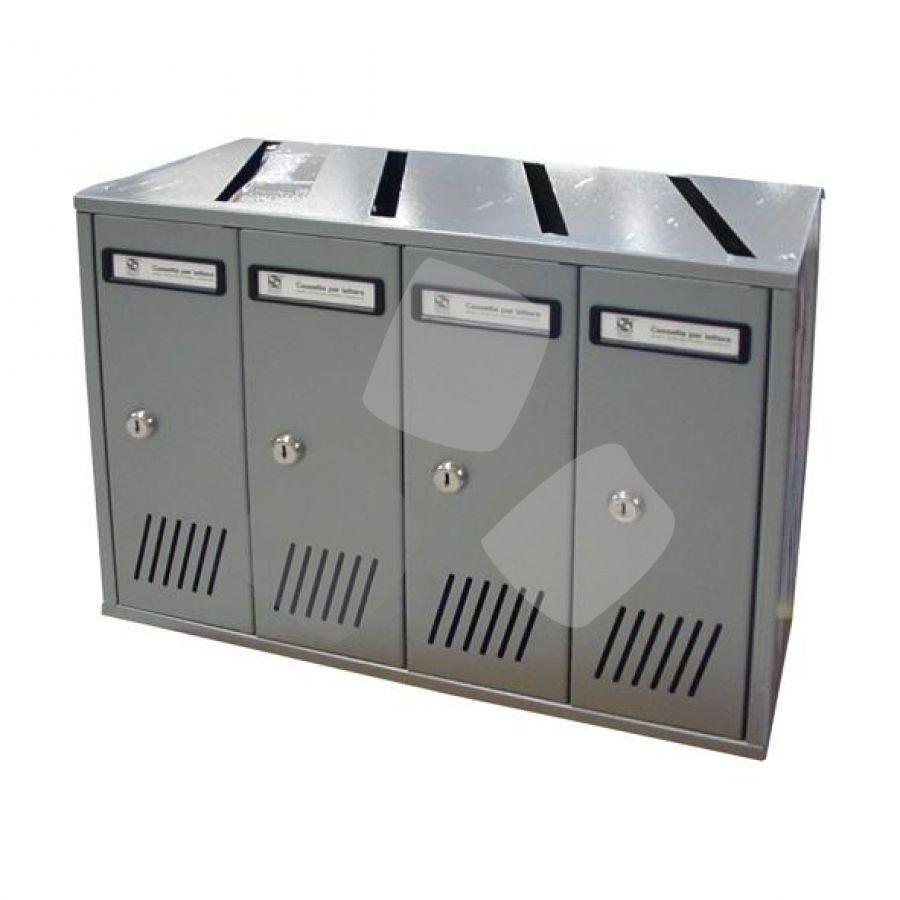Cassetta Postale Ad Elementi Silmec 4-5-6 posti Silver (31704)