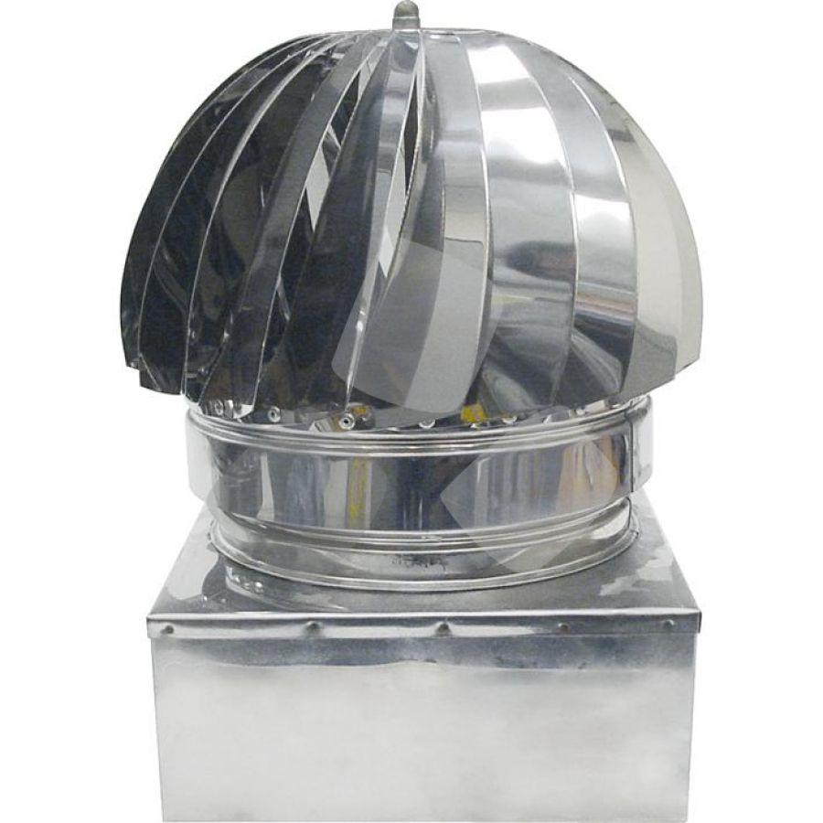 Testa Radiante C/base Quadra diverse misure Inox
