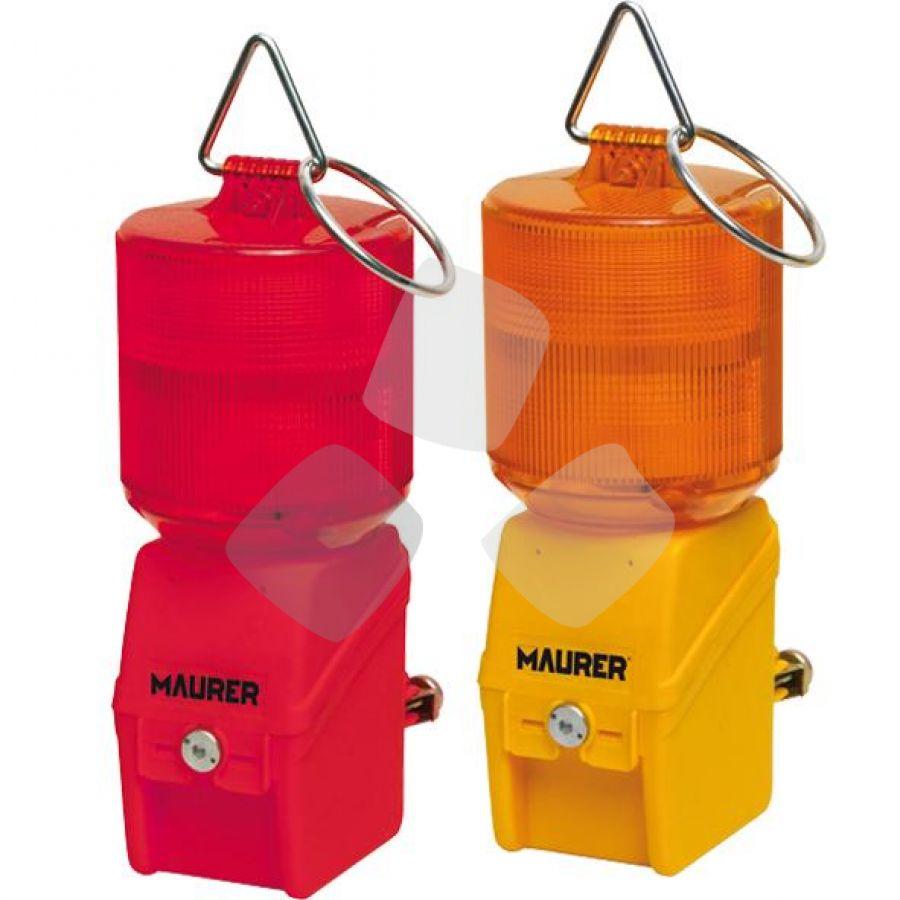 Coppia di Lampada Stradale di Segnalazione Colore Rosso-Arancio SENZA BATTERIA