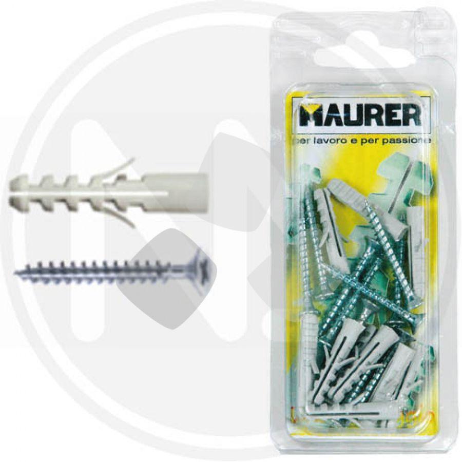 Tasselli Maurer Blister Nylon C/vite 5x25 Mv/101-b