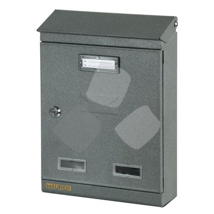Cassetta Postale Maurer Domus Antracite misura 22x7.5x32H cm.