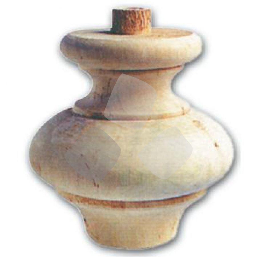 Gamba In Legno Ontano A Cipolla Art.03.0031 misura 118x118h mm.