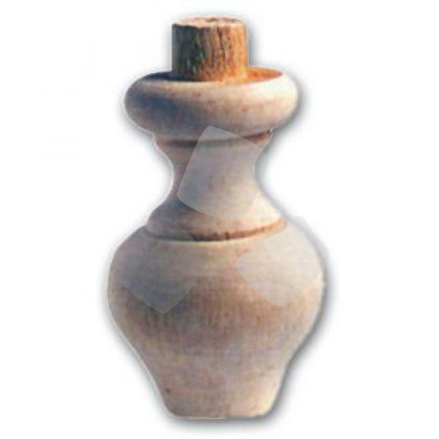 Gamba In Legno Ontano A Cipolla Art.03.0107 misura 65x100h mm.
