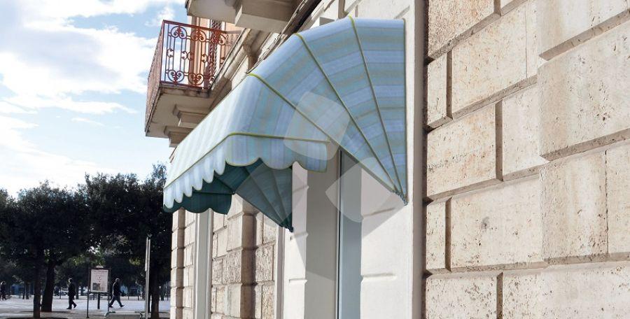 Tenda da sole a cappottina Gradini35 5 profili 4 spicchi