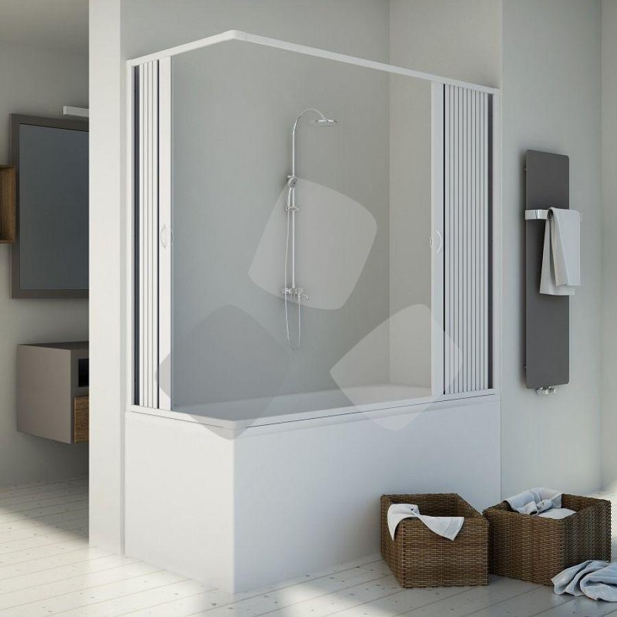 Box vasca in PVC a 2 lati scorrevole a soffietto