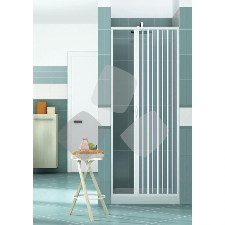 Box doccia in PVC a 1 lato tipo porta a soffietto