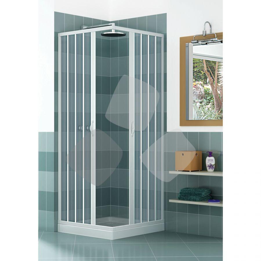 Box doccia in PVC a 2 lati scorrevole a soffietto