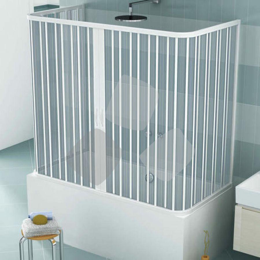 Box vasca in PVC a 3 lati tipo porta a soffietto