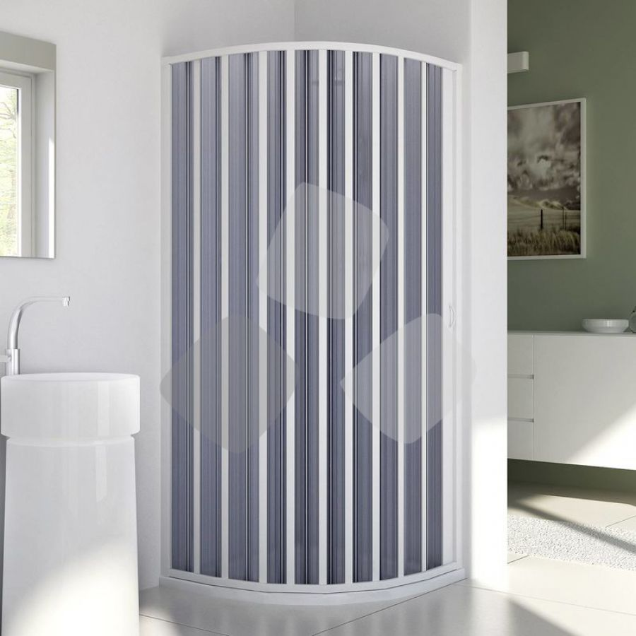 Box doccia in PVC curvo tipo porta a soffietto