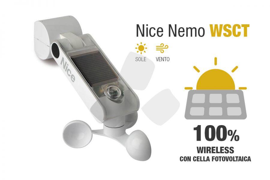 Anemometro Sensore Vento Sole NICE NEMO WSCT per tende e tapparelle