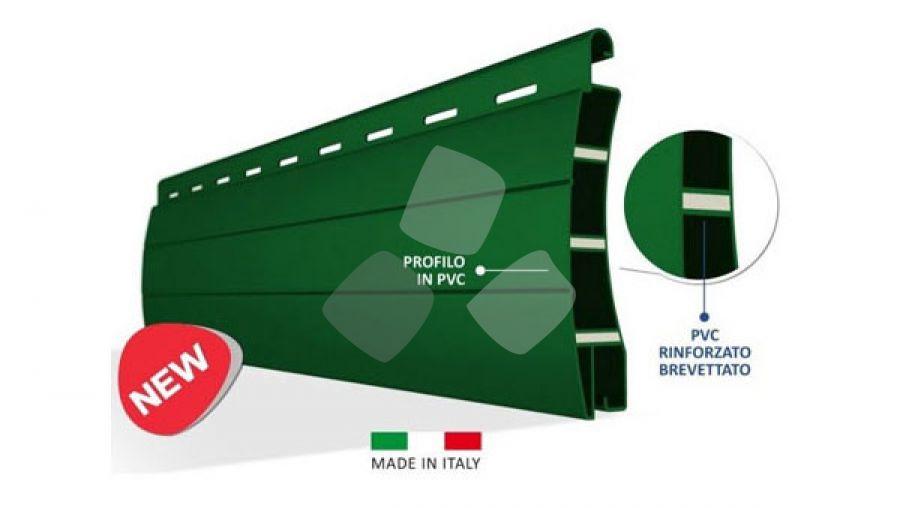Tapparella avvolgibile in plastica PVC indeformabile
