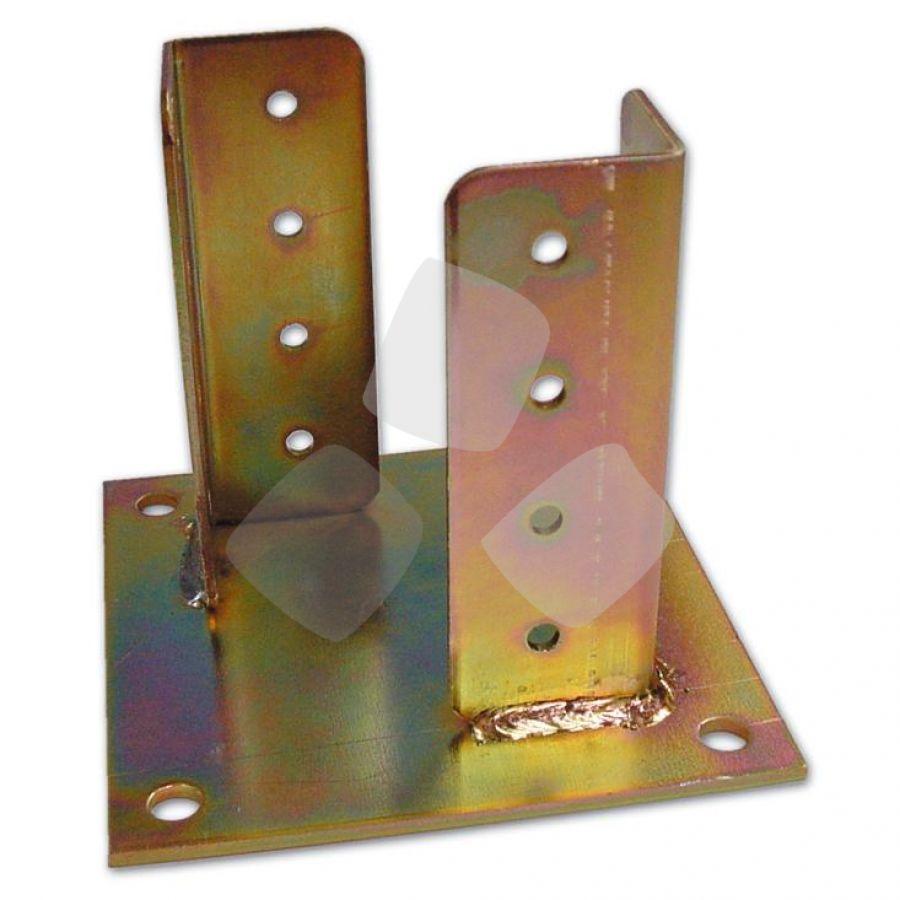 Supporto X Pilastri C/piastra varie misure (840)PZ.8