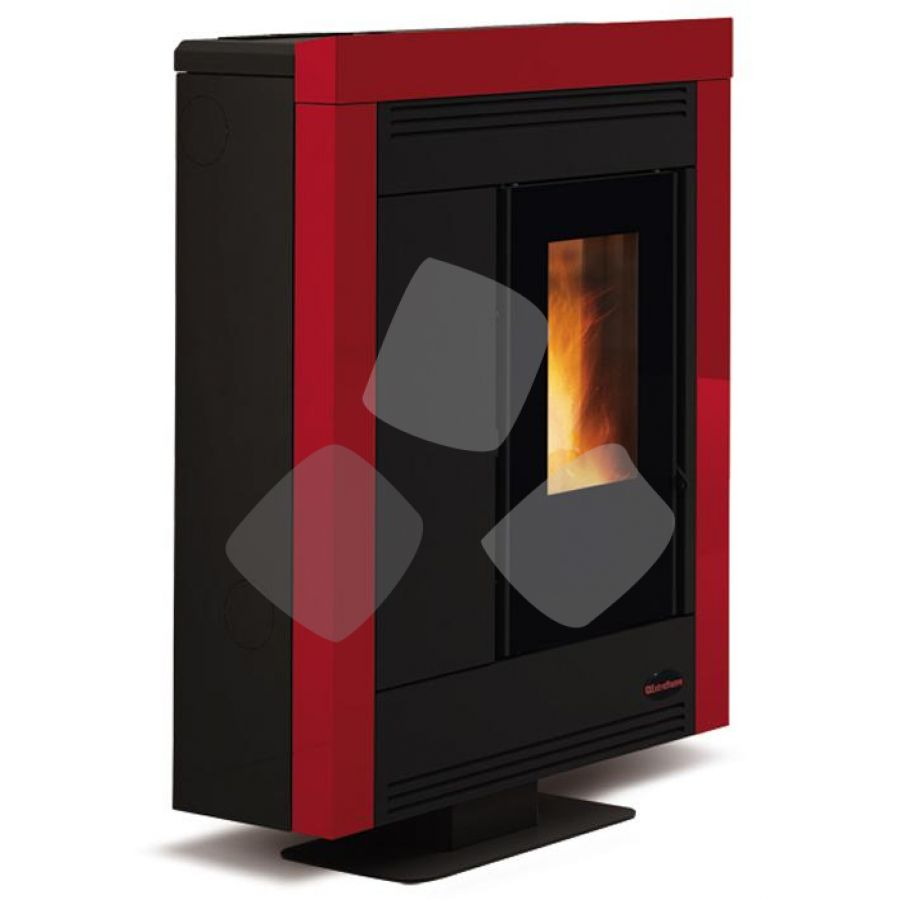 "Stufa Pellet 11,4kw ""souvenir Steel"" Nordica Bordeaux"