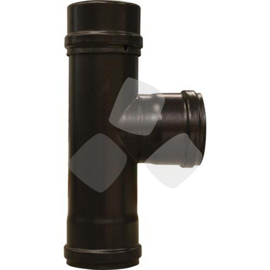 Raccordo A T F/f X Stufa Pellet Nero Sp.8mm.