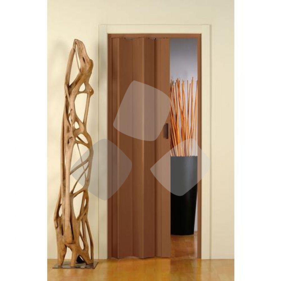 """Porta A Soffietto """"monica"""" Colore Noce 83x214hcm"""