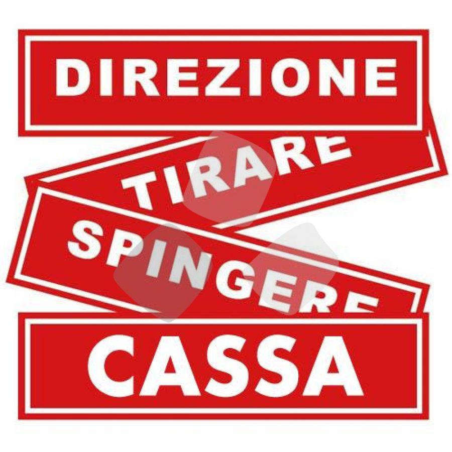 "Segnaletica Adesiva Rosso ""cassa"" 4x15cm"