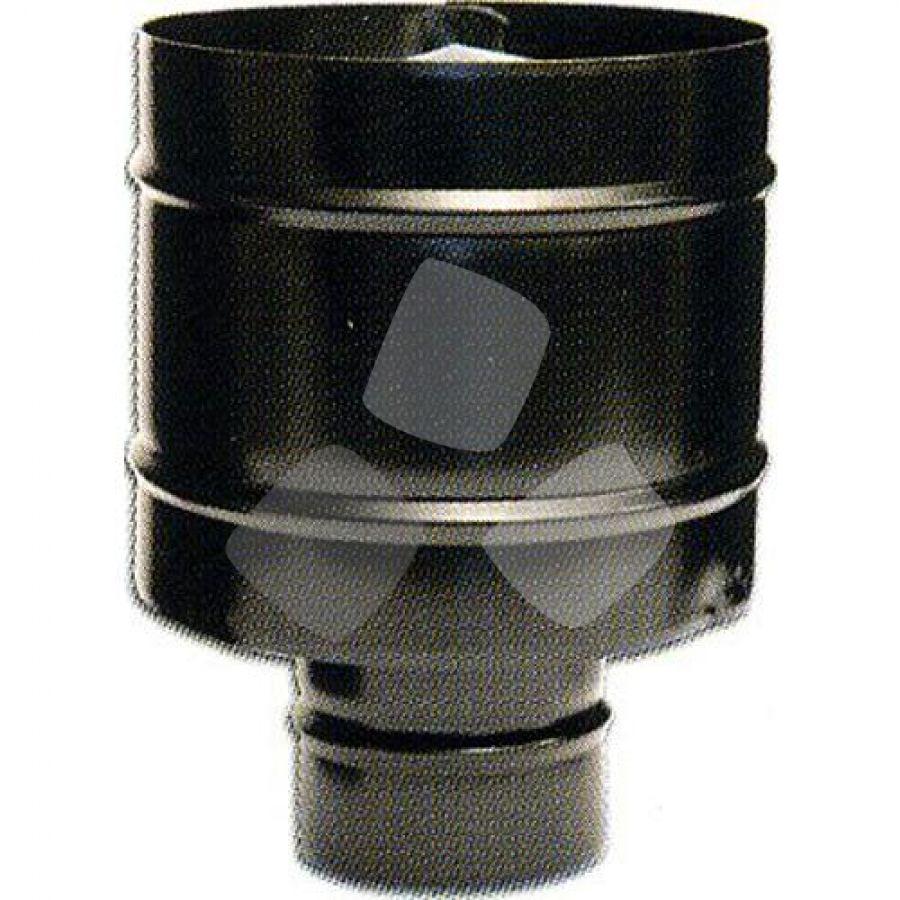 Fumaiolo Antivento X Stufa Pellet Acciao Inox Nero Ø12cm