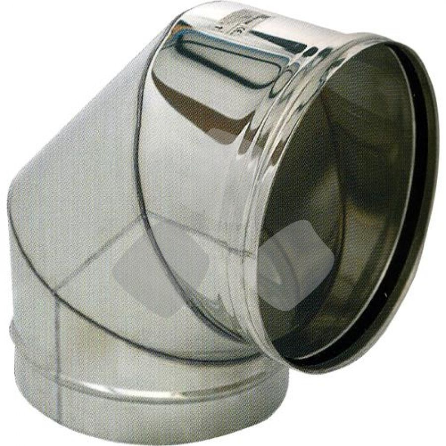 Gomito 90° X Tubo Stufa Pellet Acciaio Inox 304 Ø12cm