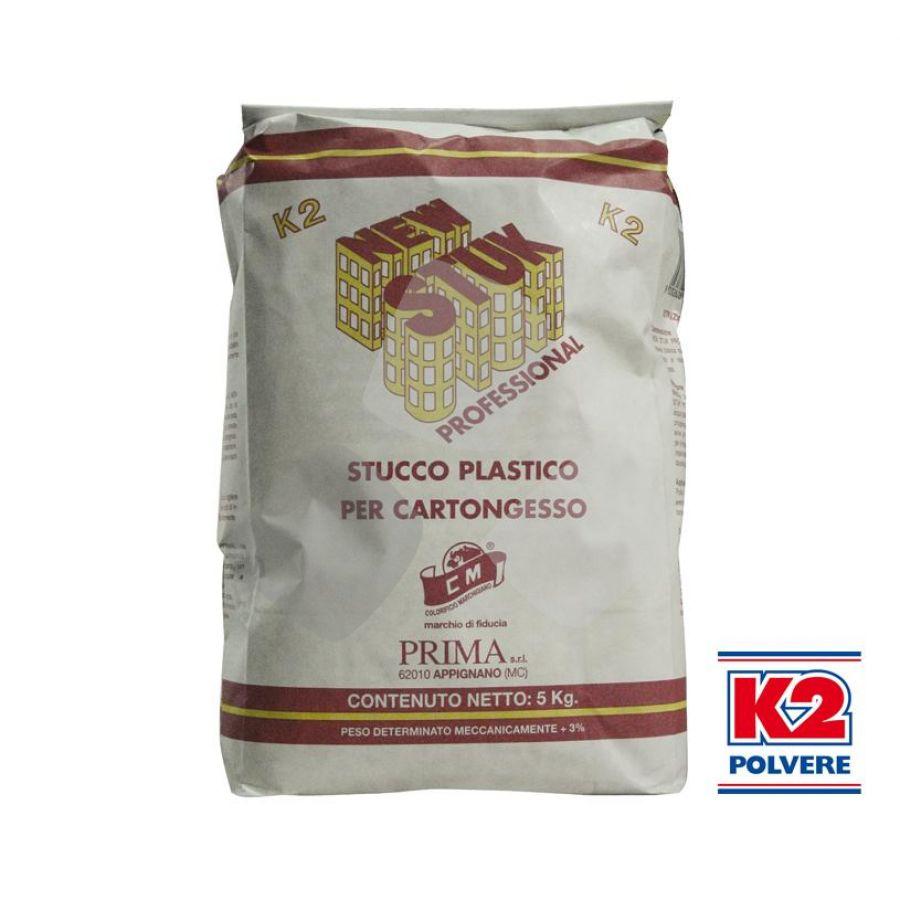 """Stucco In Polvere K2 """"new Stuk Cartongesso"""" 5kg"""