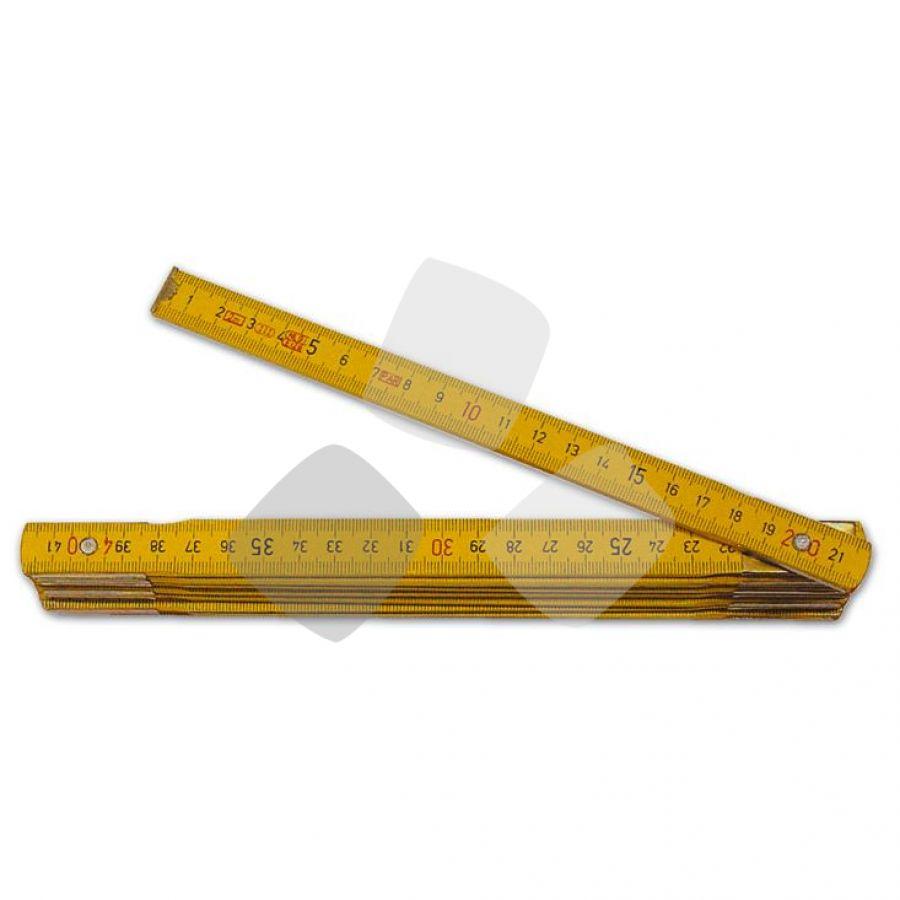 Doppiometro Legno Acero Giallo 10 Aste PZ.12