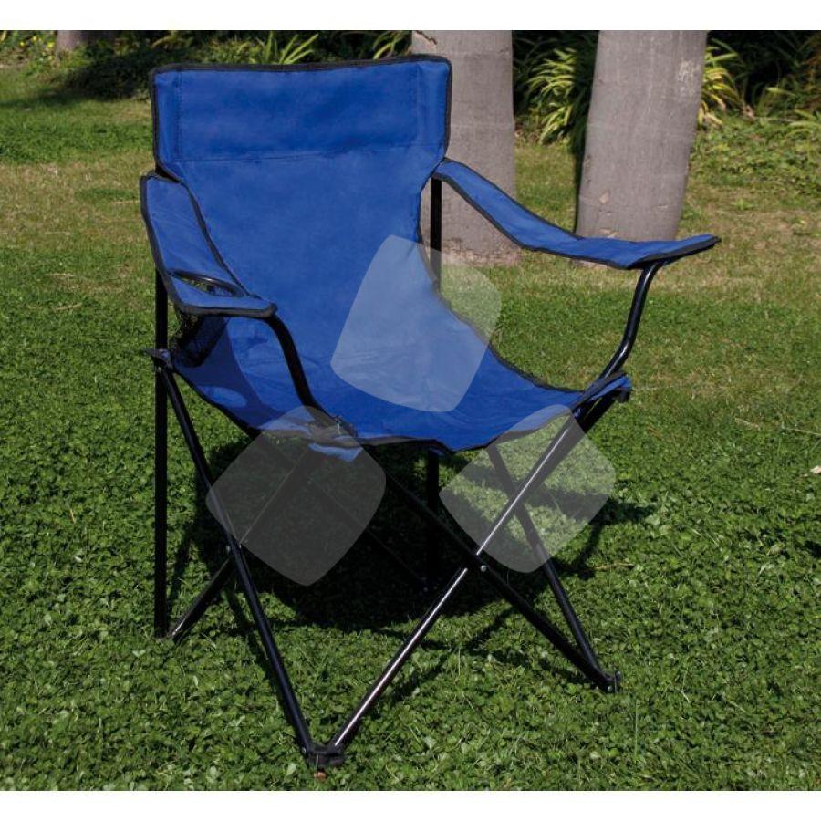 Sedia Camping Pieghevole Acciaio Papillon Blu